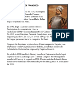 Biografía Corta de Francisco Pizarro