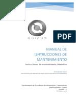02 - Manual de Instrucciones de Mantenimiento