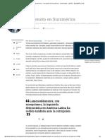 Terremoto en Suramérica - Corrupción en Suramérica - Columnistas - Opinión - ELTIEMPO