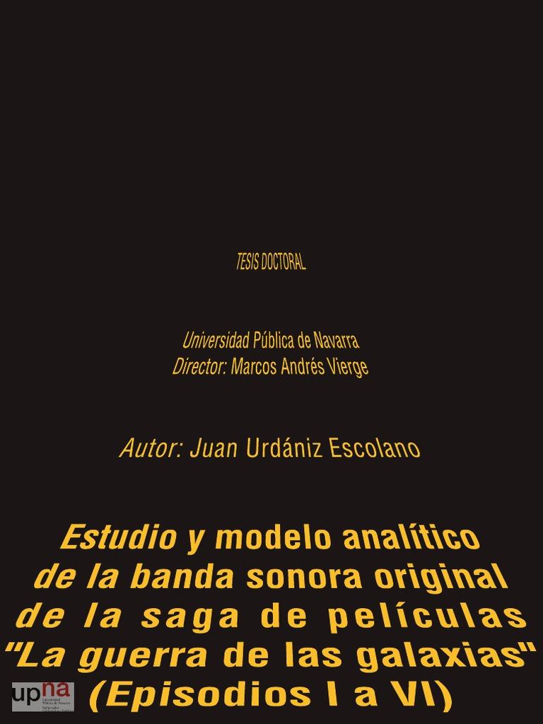 TESIS Doctoral sobre John Williams Star Wars- Juan Urdániz Escolano