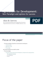 Paper 1_ Janvery Agri for Dev New Paradigm and Options for Success