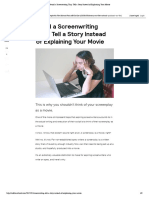Avoid a Screenwriting Trap_ Tell a Story Instead of Explaining Your Movie