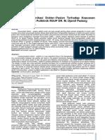 Hubungan Komunikasi Dokter–Pasien Terhadap Kepuasan Pasien Berobat Di Poliklinik RSUP DR. M. Djamil Padang