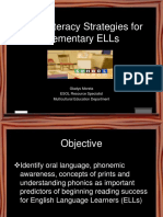 Early Literacy Strategies for Elementary