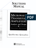 Solutions Manual for Microwave Transistor Amplifiers- Analysis and Design 2E