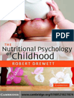 Robert Drewett the Nutritional Psychology of Chiildhood