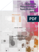 Business Requirements Specifications - Template