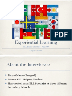 experiential learning interview