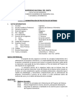 Sílabo - Administración de Proyectos de Sistemas