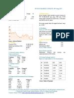 Market Update 09th August 2017