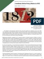 Răpirea Teritoriului Românesc Dintre Prut Şi Nistru La 1812