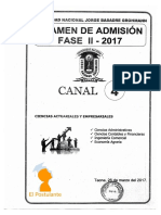 Examen Admision 2017 Fase2 Canal4 Unjbg