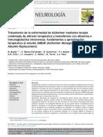 Tratamiento de la enfermedad de Alzheimer mediante terapiacombinada de aféresis terapéutica y hemoféresis con albúmina einmunoglobulina intravenosa