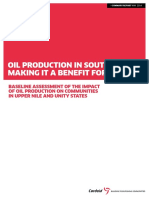 Oil Production in South Sudan Summary Report DEF LRS 1