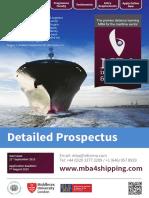 FLP2465HA101 MBA in Shipping Logistics Prospectus