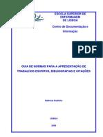 Guia de Normas para a Apresentação de Trabalhos Escritos, Bibliografias e Citações