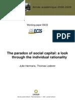 The Paradox of Social Capital