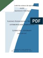 Livret Etudiant Licence 2016-2017