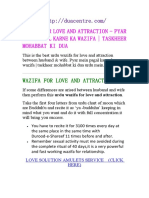 Wazifa for Love and Attraction Pyar Mein Pagal Karne Ka Wazifa Taskheer Mohabbat Ki Dua duacentre.com