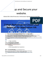 7 High Performance Cloud Load Balancer for Application HA