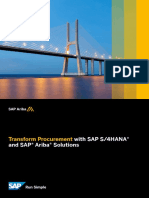 Transform Procurement With SAP S4HANA and SAP Ariba Solutions