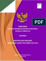 Permenkes No. 25 Tahun 2016 Ttg RAN Kesehatan Lanjut Usia Tahun 2016-2019