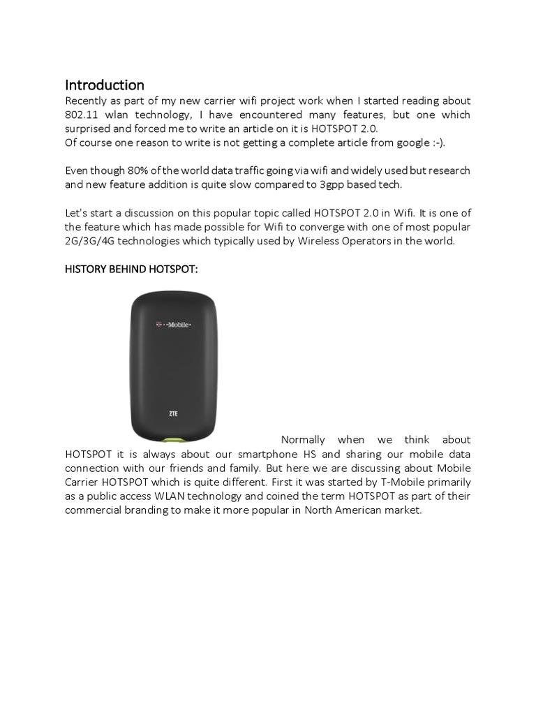 HOTSPOT 2 0 802 11   Wi Fi   Radius