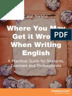 Writing English