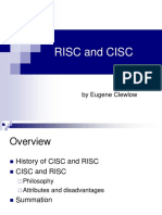 RISC and CISC - Eugene Clewlow.ppt