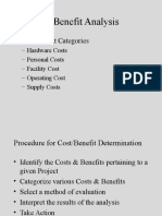 Chapter 8 Cost Benefit Analysis