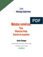 Metodos Numericos Hidrologia Subterranea Apuntes