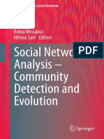 (Lecture Notes in Social Networks) Rokia Missaoui, Idrissa Sarr (eds.)-Social Network Analysis - Community Detection and Evolution-Springer International Publishing (2014).pdf