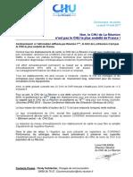Communiqué de Presse_Non Le CHU de La Réunion n'Est Pas Le CHU Le Plus Endetté de France