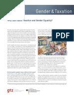 Gender & Taxation