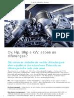 Cv, Hp, Bhp e KW_ Sabes as Diferenças