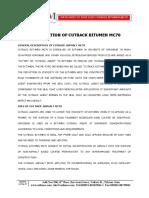 Cutback Bitumen Mc 70