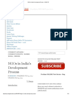 NGOs in India's Development Process - InSIGHTS