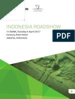 ASEAN Roadshow Jakarta Agenda 2