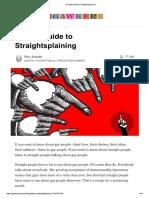 A Field to Straightsplaining