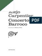 CARPENTIER, Alejo. Concerto Barroco.