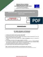 Prova Administrador UFU 2014