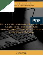 Guia de Orientações Básicas Em Legislação Educacional_2017