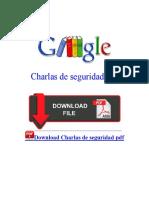 Charlas de Seguridad PDF