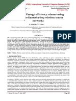 Improving Energy efficiency scheme using Mobile coordinated n-hop wireless sensor networks