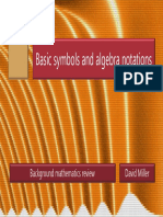 Math 1 Basic Symbols and Algebra Notations