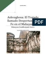 Ashvaghosa El Tratado llamado Despertando la fe en el Mahayana.