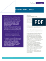 Benefits of Iso27001 White Paper