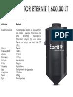 Ficha Biodigestor 1600 Lt