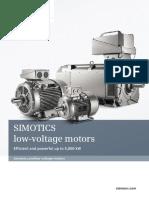 Simotics Low Voltage Motors En