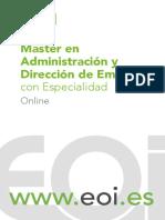 Administracion Direccion Empresas Online